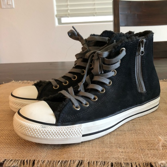 Converse Shoes   Fuzzy Lined High Tops